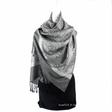 Meilleur modèle Paisley Echarpe Jaquard Stole à la mode Long Hijab Wrap Femme Spring Echarpe