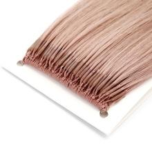 High Quality Human Hair Virgin Hair 18 Inch Pretty Ash Pink Color Brazilian Knot Thread Hair Extension Remy Hair