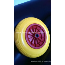 Roda contínua da espuma do plutônio, roda livre lisa 4.00-8