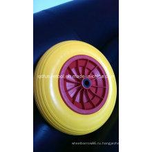 ПУ пены твердое колесо, плоское беговое колесо 4.00-8