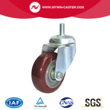 Thread Stem Rotating Industrial Castor Rubber Wheel