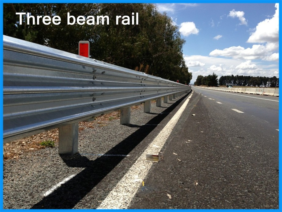 Three beam rail