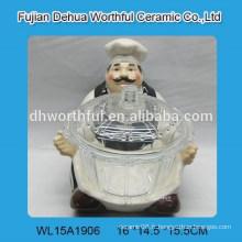 Design de chef céramique populaire avec bol en verre