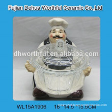 Popular ceramic chef design with glass bowl