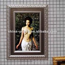 Popular decoração menina nu pintura a óleo