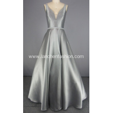 Silver Elegant Formal Dresses Long Prom Dress