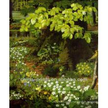 Pintura al óleo de la lona de la decoración casera de cuadro natural por Handpainted
