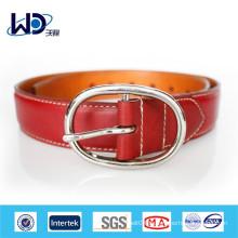 Ceintures rouges en cuir véritable de haute qualité