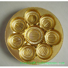 Low Price Metallized PVC with Gold and Silver