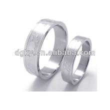 Conjuntos de boda de acero inoxidable anillos par anillo conjunto