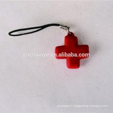 La coutume populaire imprimé pendentif téléphone 3D mignon promotionnel PVC