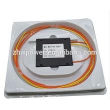 Cassette type 1 * 2 diviseur à fibre optique avec connecteur SC coupleur fibre multimode, diviseur optique plc