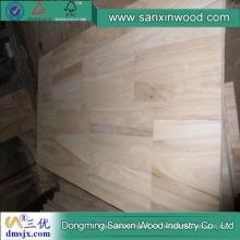 Adhesivos con junta de dedos de panel de madera de Paulownia