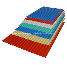 Hojas y materiales de techumbre acanalados de PVC anticorrosión