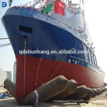 Airbag gonflable flottant marin de fournisseur d'usine de Qingdao pour le lancement de bateau