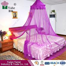 Rede de mosquitos de dossel de cama pendurada redonda Tamanho de rei ou rainha circular para adultos e crianças Têxtil doméstico