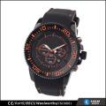 Hommes de montre en silicone noir