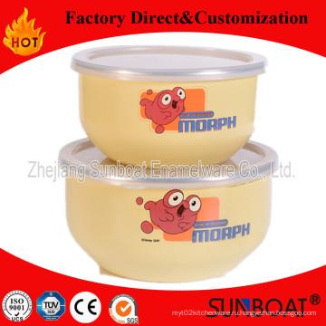 Sunboat 3 шт набор эмалированной миски посуда посуда