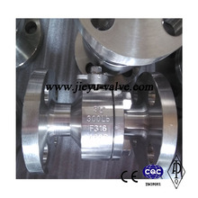 2 Pieces Cast Stainless Steel Oil Valve, API Valve, Trunnion Ball Valve