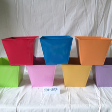 Supply for Garden Flower Pots Small Metal Round Plants Flower Pot supply to Indonesia Factory