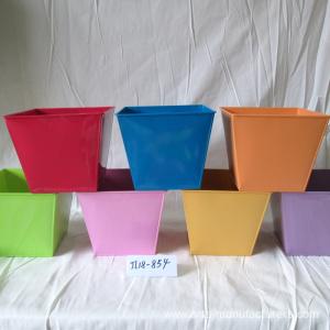 Small Metal Round Plants Flower Pot