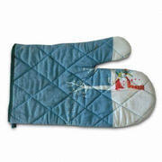 Oven Mitts/Gloves with Embroidery/Silk Printing, Various Materials, Styles and Colors are Available