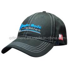Pesado escovado algodão sarja bordados Leisure Baseball Cap (TMBC6421)