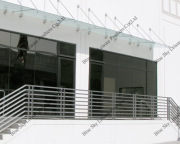 High quality real glass roof terrace canopy