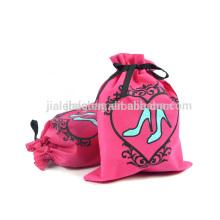 sedex 4 pillar non woven drawstring bags, printed drawstring bag for shoes, factory sedex 4 pillar asmall fabric drawstring bags