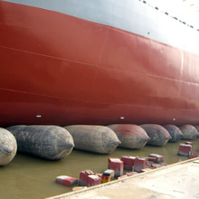 boat dock vessel launching rubber airbags