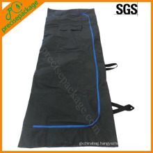 leak proof new style mortuary disposable six handle plastic corpse bag
