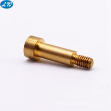 OEM micro metal CNC turning machining precision brass shaft