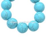 Turquoise Round Stone Beads Loose Strand Precious Stone Jewelry Beads