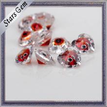 Forme de coeur couleur mixte brillant zircon cubique pour les bijoux