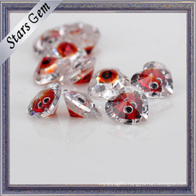 Heart Shape Mixed Color Brilliant Cut Cubic Zirconia for Jewelry