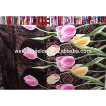 125GSM 3D design polyester bedsheet fabric
