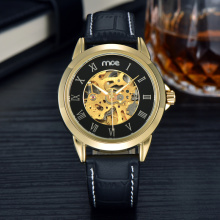luxury crystal mineral glass machine wrist watch