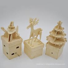 Créative Enfants Éducatifs Cadeau De Noël En Bois Puzzle Table Décoration