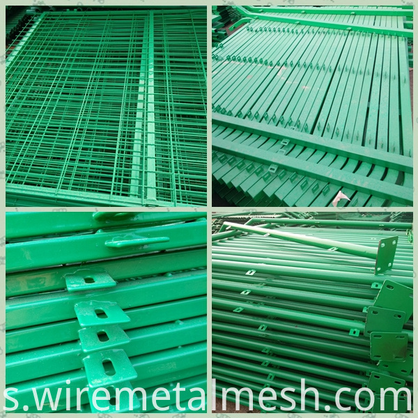 wire mesh fence with frame