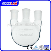 JOAN Labor-Glaswaren 3- Hals runde Bodenflaschen mit Standard-Gelenken