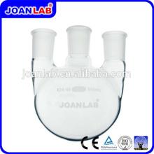 JOAN Cristalería de laboratorio 3 vasos de fondo redondeado de cuello con juntas estándar