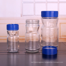 50g 100g 200g glass coffee bean container coffee packing glass jar plastic sealed