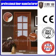 Diseño popular MDF Puertas francesas combinadas