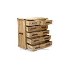 Industrie-Holz-Schrank und 6 Schublade
