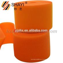 Gancho y lazo de nylon anaranjados modificados para requisitos particulares