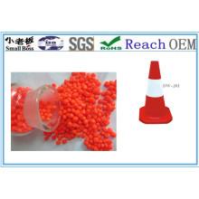 Cristal alto! O plástico combinou o PVC de Mateiral para o composto do cone do tráfego do cabo / PVC de fio