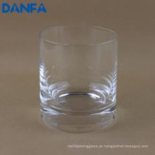 9 onças soprado copo de uísque