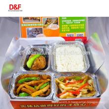 8011 3003 porte-papier d'aluminium récipient pour aliments