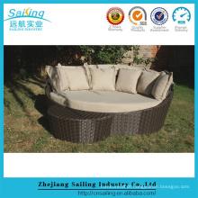 Novo design Resina Wicker Outdoor Furniture Round Footstool