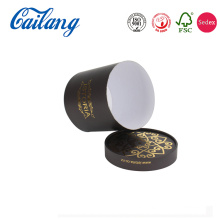Foil Pattern Round Paper Candle Packaging Box